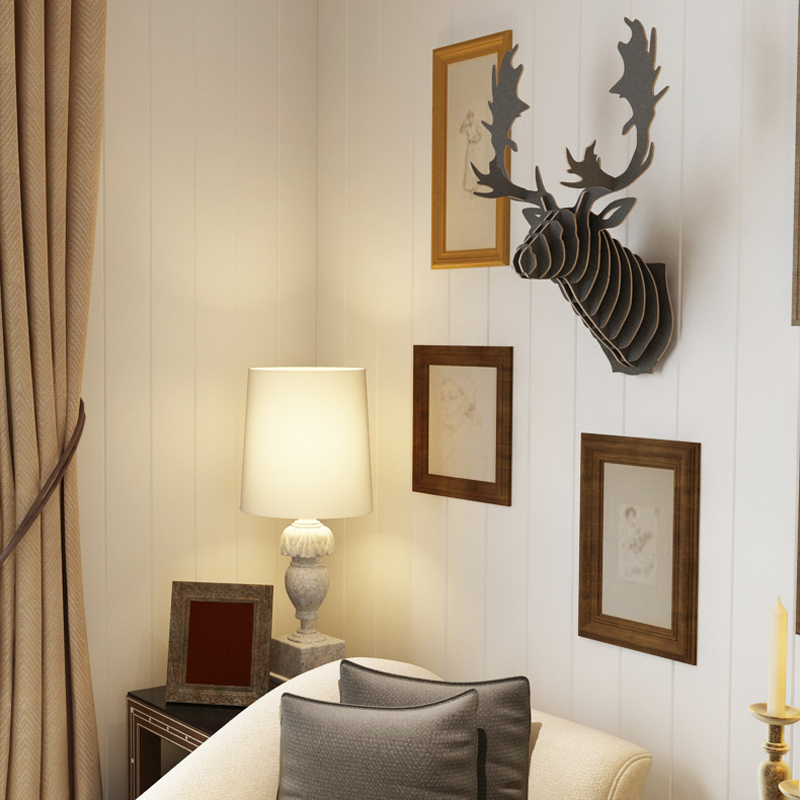 Buy canada quebec milu reindeer head 3d for Home decor online canada