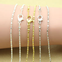 Buy 10pcs/lot Rhodium/Gold/Silver Color Necklace Chains Lobster Clasps Metal Link Ball Chain Diy Jewelry Findings F1386 for $4.44 in AliExpress store