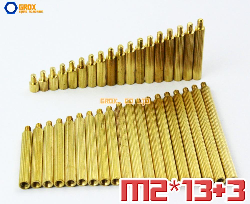 Гаджет  200 Pieces Brass M2 x 13 + 3mm PCB Female to Male Motherboard Standoff Spacer None Аппаратные средства