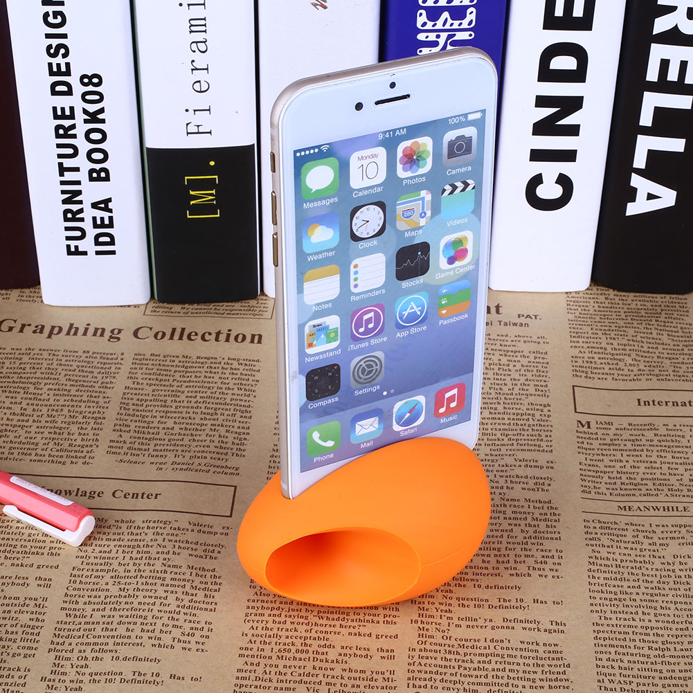 Egg Silicone Horn Amplifier Music Speaker Holder Stand For iPhone 6/6 Plus(China (Mainland))