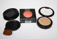 1PC NEW  Bronzing Powder Face Blush Powder Blusher Palette with Mirror Brush brand makeup blush 9g Brand Cosmetics Free Shipping