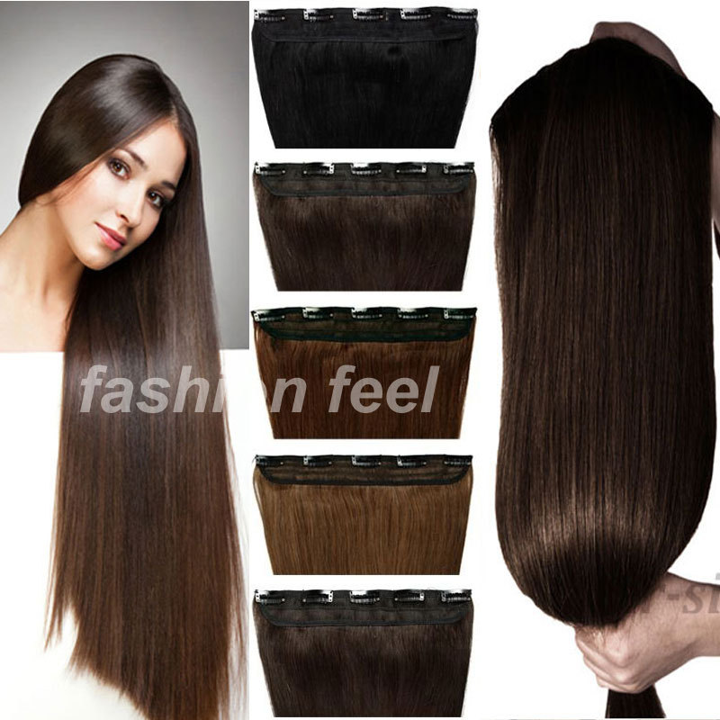 Maga Long hair 30 inches 76CM Straight Clip in Hair Extensions braiding hair 5Clips on Sexy Women Party FASHION NEW STYLISH(China (Mainland))
