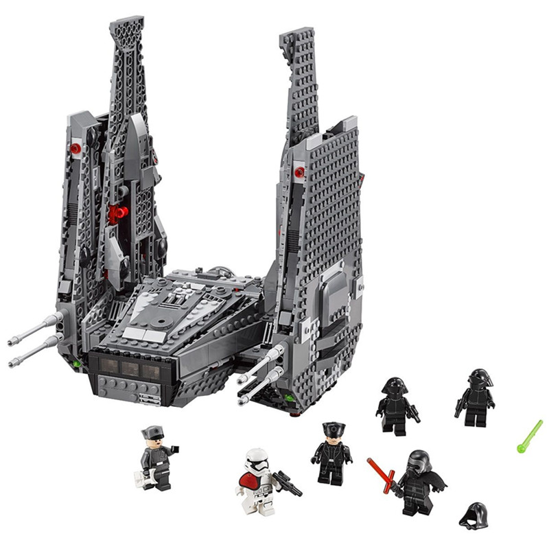Marvel Star Wars Kylo Ren Command Shuttle Building Blocks Compatible With LEGOED Star Wars Marvel Minifigures Toys Brick C0A11<br><br>Aliexpress