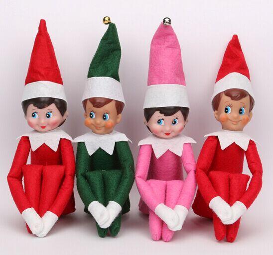 2016 NEW Christmas Doll The Elf On The Shelf Christmas Tradition Kids Birthday 37cm Plush Toys(China (Mainland))