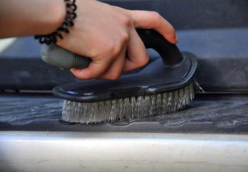 FREE SHIPPING Short shank L auto tire brush/carpet cleaning brush