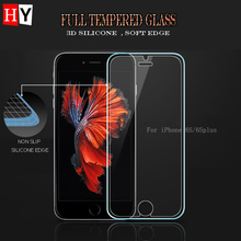 3D Silicone Edge Full Tempered Glass Film For iphone 6/6s 4.7″ 6 Plus 5.5″ Screen Protector Protective For iphone6/6s Free Case
