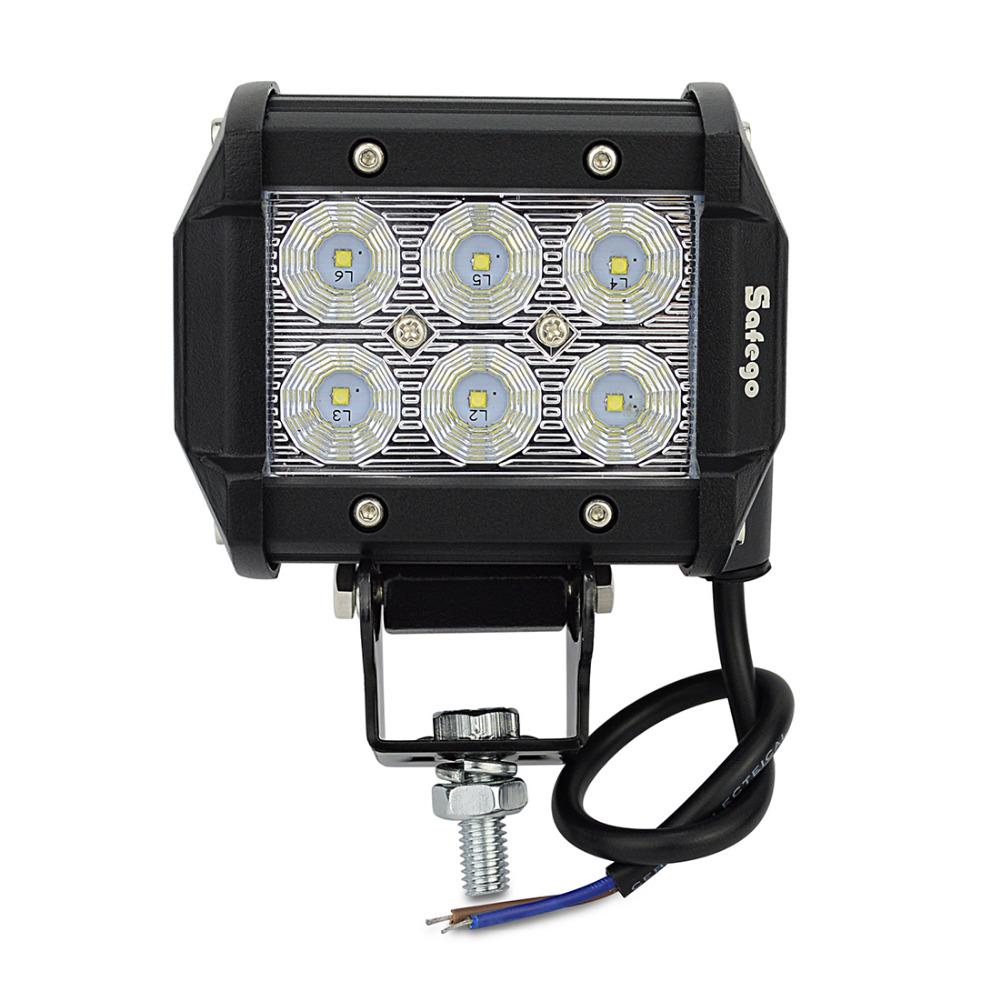 Safego Led Lights 4 Inch 18w Work Lite : Pcs led inch w work light as worklight flood