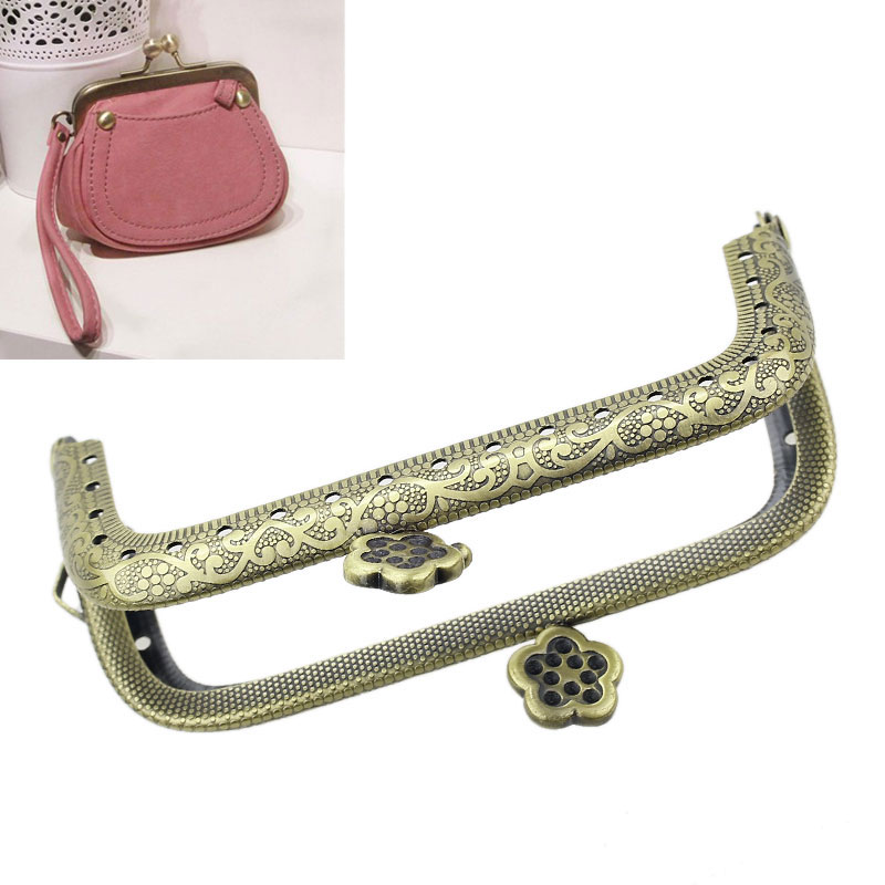 Free Shipping 3PCs Metal Purse Bag Frame Kiss Clasp Lock Bronze Tone 9cm x5.5cm B31677 2016 new(China (Mainland))