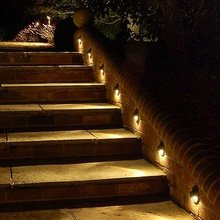 Free Shipping Outdoor & indoor LED Wall step Light Stair Lighting Set :10pcs Lamps & 2pcs T Connection Cable & 1pc 8W LED Driver(China (Mainland))