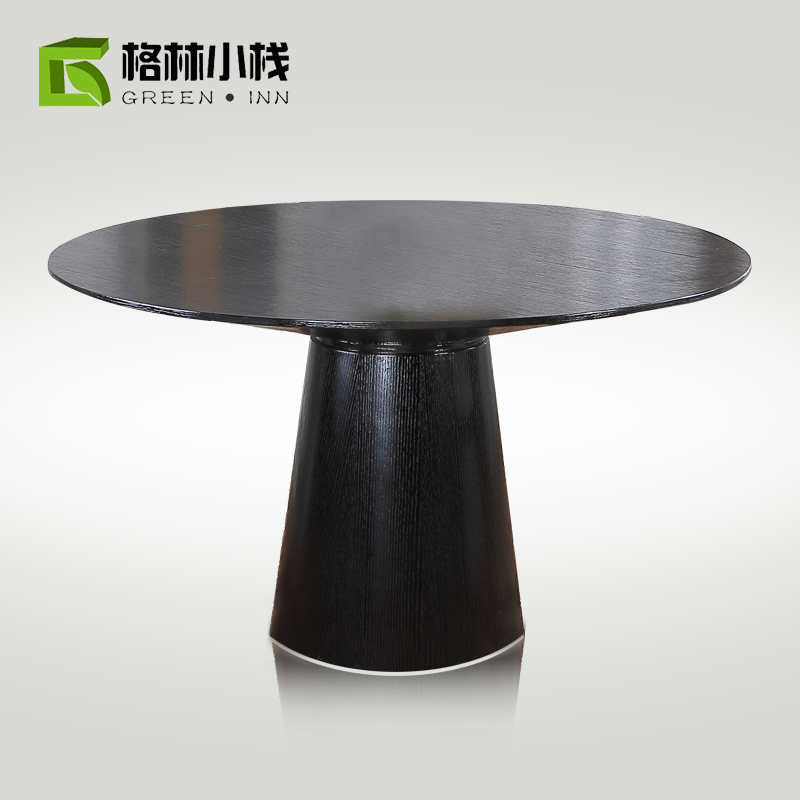 modern chinese small round wood dining table and chair