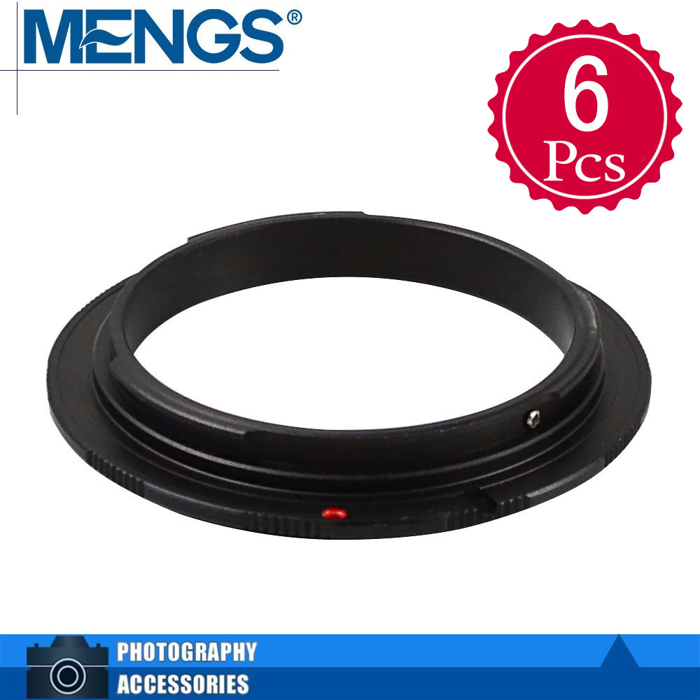 MENGS 6Pcs per pack 58mm Lens Mount Adapter Ring Alloy Aluminum Material EF EF-S Camera Body, 14150001201