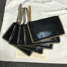 Luxury women coin purse wristlets quality PVC stella gold and silver chain available lady clutches dime bags Christmas gift(China (Mainland))