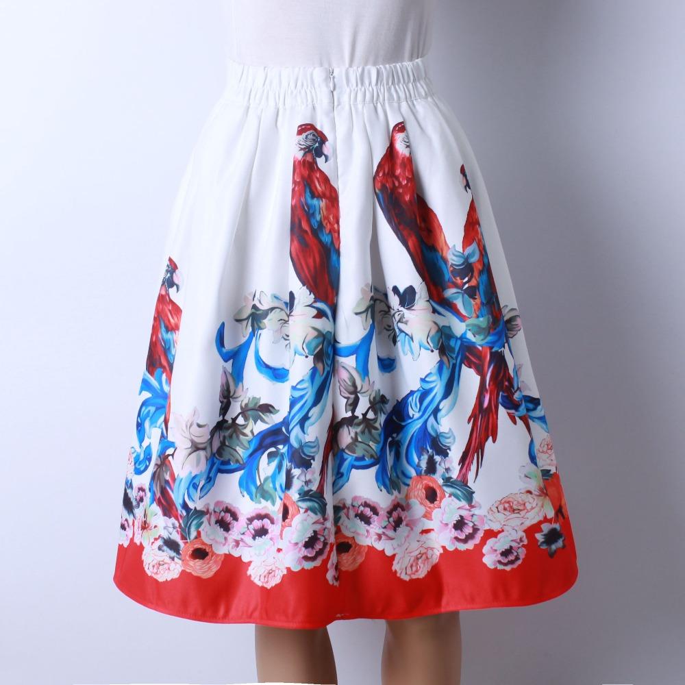 HTB1Ugd7QFXXXXb1aXXXq6xXFXXXA - GOKIC 2017 Summer Women Vintage Retro Satin Floral Pleated Skirts Audrey Hepburn Style High Waist A-Line tutu Midi Skirt