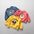kids winter clothes Plus velvet Sesame Street Cartoon pattern sweatshirt boys clothes toddler girls sweater children