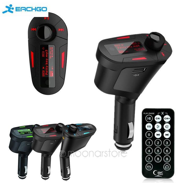 Car Mp3 Player car audio Car Kit MP3 Mucsic Player Wireless FM Transmitter Radio Modulator USB SD MMC+ Remote Control(China (Mainland))