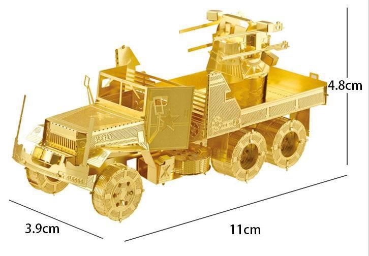 Детский набор для моделирования Peicecool 2015 3D DIY Antiaircraft truck детский набор для моделирования stirling engine stirling gz001