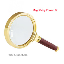 70mm Handheld 6X Magnifier Magnifying Glass Lens Loupe Reading Jewelry - fille store