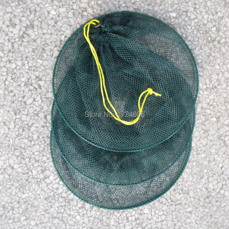 67CM Fish Lobster Crawfish Crab Trap Fyke Net Foldable 3 Sections Hoop Mesh Net(China (Mainland))
