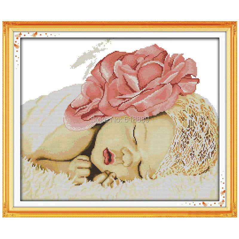спящий ангел вышивка