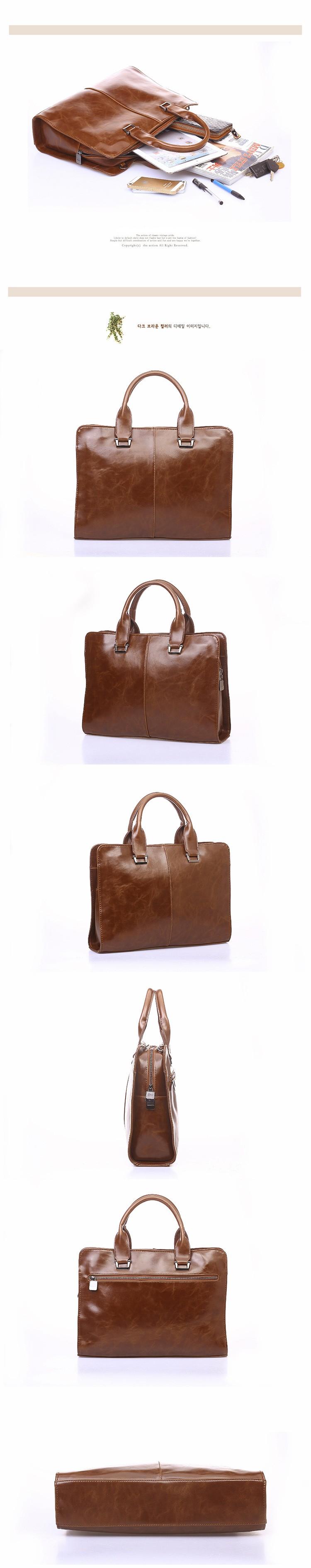 Men Vintage Business Real Genuine Leather Briefcase Travel Causal Messenger Shoulder Portfolio Laptop Bags Lawer Handbag Bolsa (2)