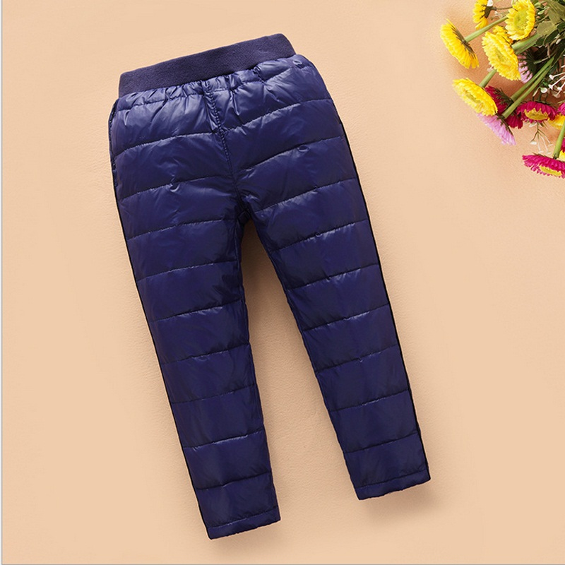 90% white duck down baby girl boy duck down pants winter warm leggings(China (Mainland))