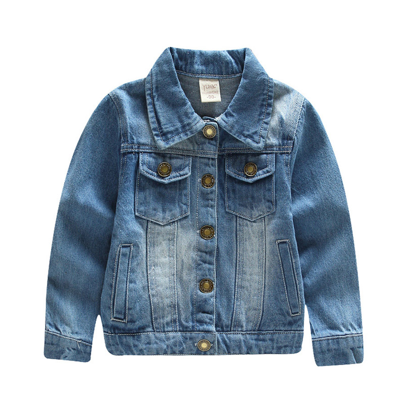 New Autumn Winter Boys Girls Denim Jacket Fashion Kids Soft Denim Fabric Coats 2-10T(China (Mainland))