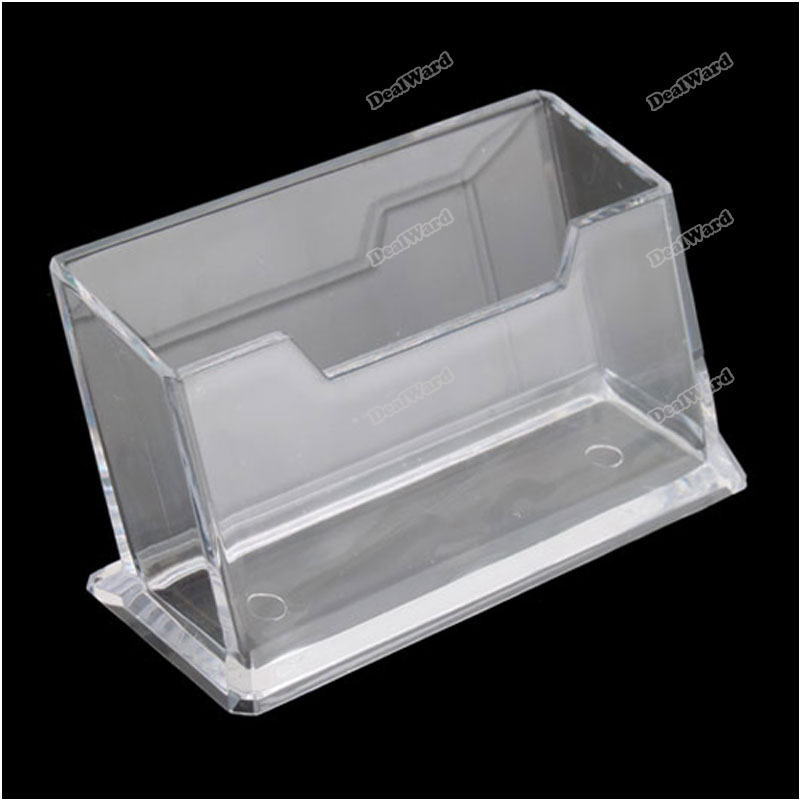 Suitable! dealward Clear Plastic Business Card Holder Display Stands Shelf Hot More benefit(China (Mainland))
