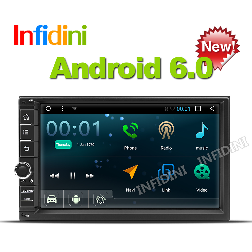 1024*600 Android 6.0 car dvd player gps navigation universal car gps radio video player 2 din in dash for nissan xtrail Qashqai(China (Mainland))