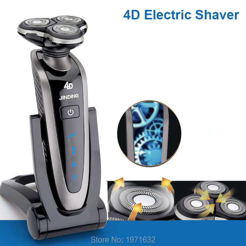 Best Quality Wholesale New Deluxe Rotary Men's 4D Washable Cordless Electric Shaver Razor Rechargeable UR-998(China (Mainland))
