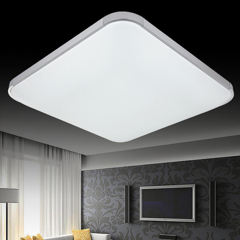 Flat panel led ceiling lamp living room lamp modern for Minimalist bedroom lighting