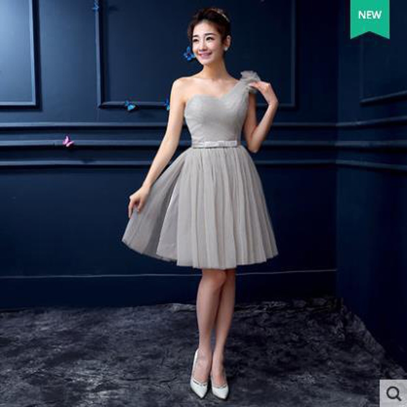 Blue grey dress color