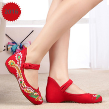 Classic China Style Quality Canvas Shoes New Fashion Spring Autumn Women Shoes Hight Increasing 3CM Low Heels Shoes Zapatos A228(China (Mainland))