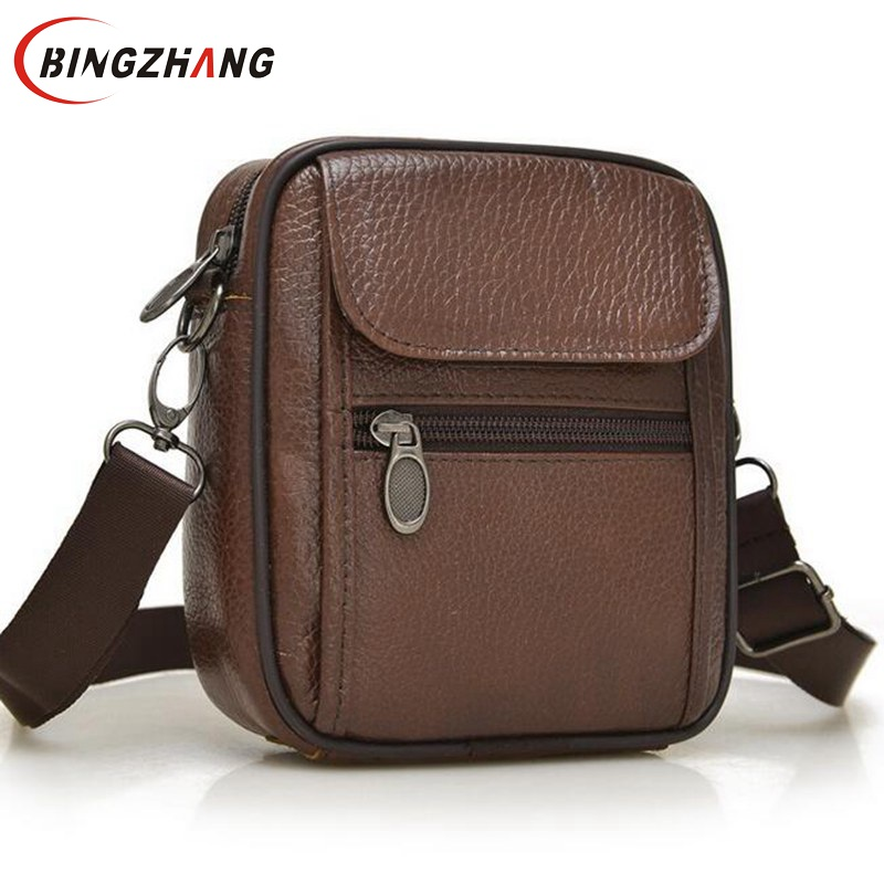 2016 Hot sale New fashion genuine leather men bags small ...