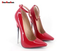 Sexy Womens ladies high stiletto fetish pointed pumps shoes large size US5 US14