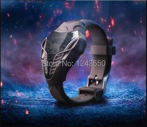 New! Hot Sale!!! LED Watch Digital Fashion Cobra Men's Watch black & white Silicone  Triangle Dial Sports Wristwatches 10pcs/lot(China (Mainland))