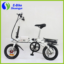 2016 Latest Foldable Portable frame with hidden lithium battery 14'' fast mini Folding Electric Bike(China (Mainland))