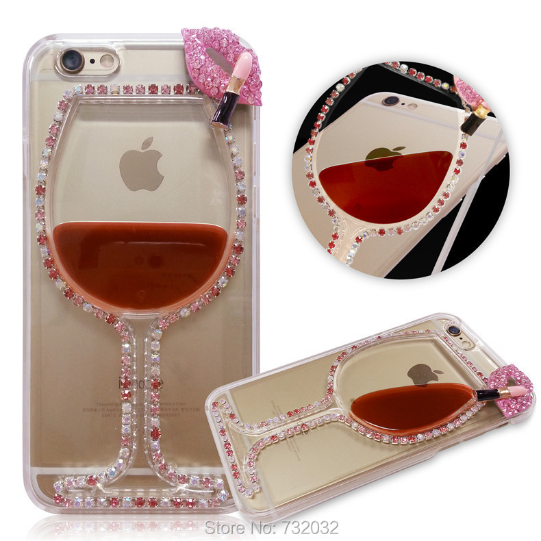 Case Design customized phone cases for galaxy s3 : ... Red Wine Cup Lips Liquid Phone Cases Cover for iPhone 4S 5S 6 6S Plus