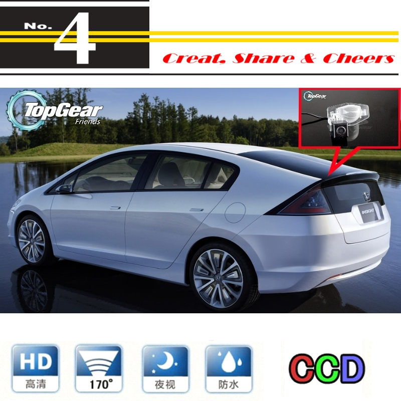 For Honda Insight 5D 2010~2015 Car Camera High Quality Rear View Back Up Camera Night View | PAL / NTSC | CCD + RCA(China (Mainland))