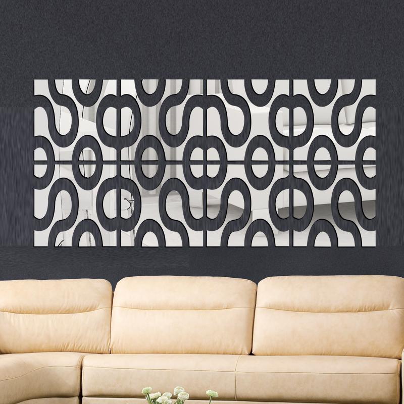 2015 Nieuwe 4 Lot Set 3d Acryl Muursticker Diy Spiegel Muurstickers Home Decor Muurstickers