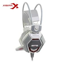 XIBERIA V6 Over ear Gaming Headset Earphone Headband Headphone with Mic Stereo Bass Musci Breathing LED