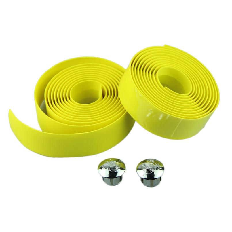 Attractive Cycling Handle Belt Bike Bicycle Cork Handlebar Tape Wrap 2 Bar Plug Handle bar tape