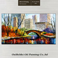 Professional Manufacturer Best Quality Hand Paint Landscape Oil Painting New York Central Park Scenry for Home