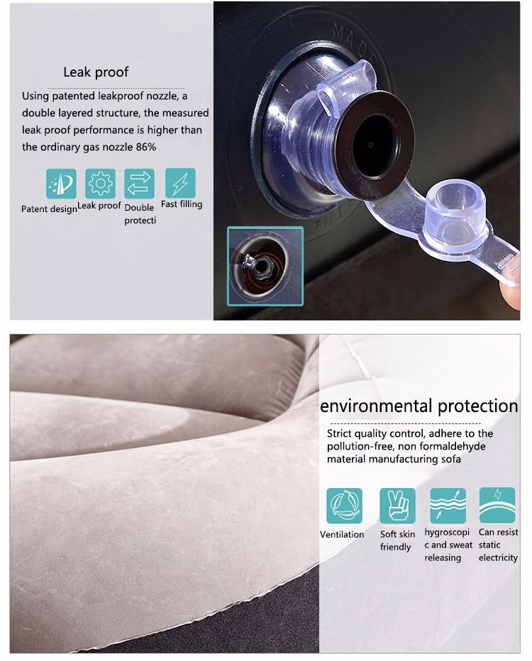 Lazy sofa single small inflatable sofa bed bedroom balcony nap creative leisure hostel lazy chair 4pc