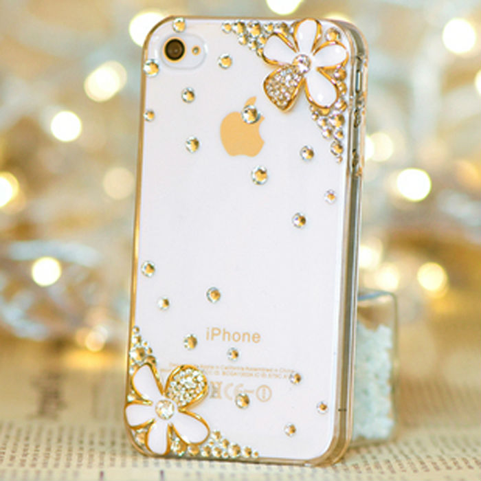 Luxury 3D daisy Bling Crystal Diamond Case Cover For iPhone 6 6 plus 3g 3gs 5 5g 5s 5c 4 4g 4s Retail Package Accessory(China (Mainland))