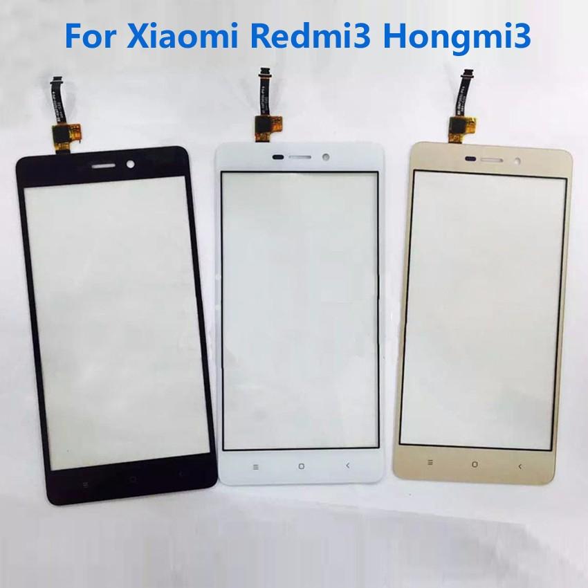 100% Working New Hongmi 3 Sensor Glass Panel Touch Screen Digitizer For Xiaomi Redmi3 Redme 3 Red Rice 3 Phone Repair Parts