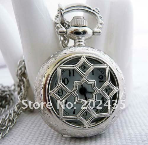 Freeshipping wholesale 20pcs lot could mix different styles necklace small pocket watches godmat Dia27mm S413