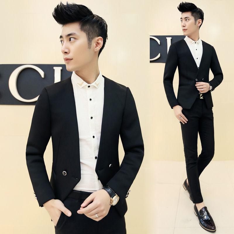buy 2015 one button black men slim fit suits solid classic men 39 s formal winter