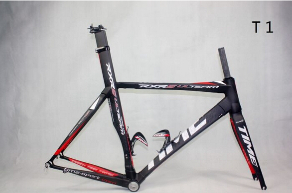 Hot sale !TIME RXRS ZXRS Ulteam Carbon Road frameset carbon fiber bicycle frame road race bike frame 3k BB30 frame free shipping(China (Mainland))