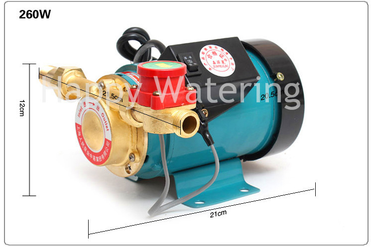 """3/4"""" Outlet Automatic Water Heater Solar Water Pressure Booster Pump 260W Pressure Pumps(China (Mainland))"""