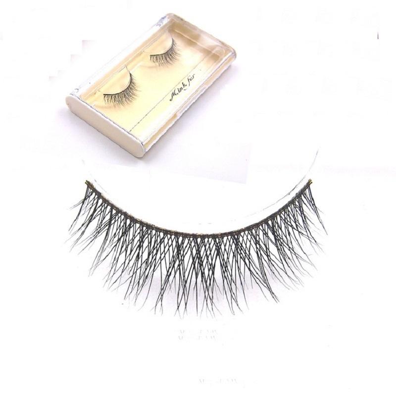 LIBLO 1 Pair F19 Mink Hair False Eyelash Extensions Makeup Cosmetics Natural Long Crisscross Fake Eye Lash - LBB Commercial Co., Ltd. store